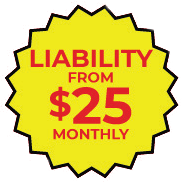 Liability from $25 monthly